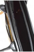 Torebka panterka czarna kuferek